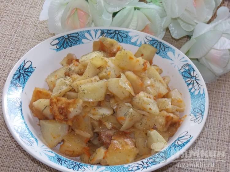 Постный картофель с капустой запеченный в рукаве