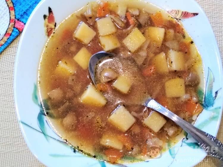 Грибной суп с бульонными кубиками
