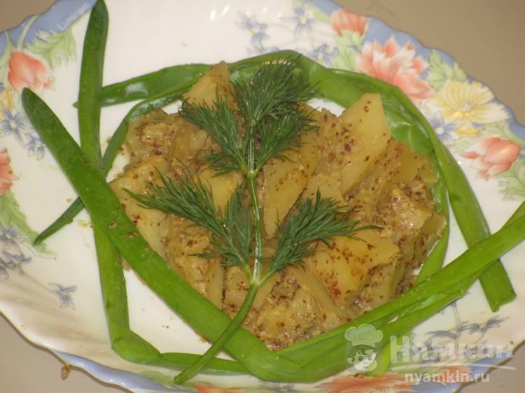 Жареная картошка с французской горчицей