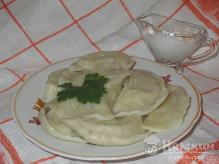 Картофельные вареники с ароматом говядины
