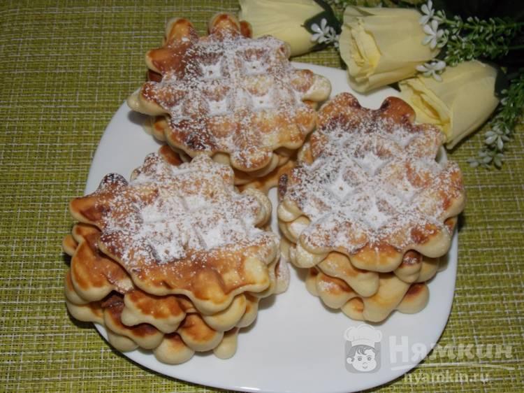 Вкусное молочное печенье в вафельнице