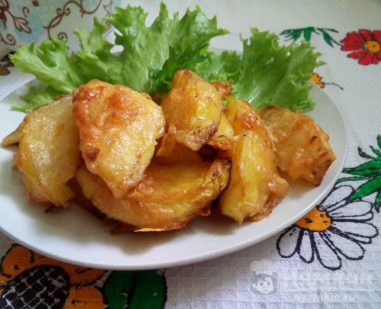 Запеченный картофель в соевом соусе