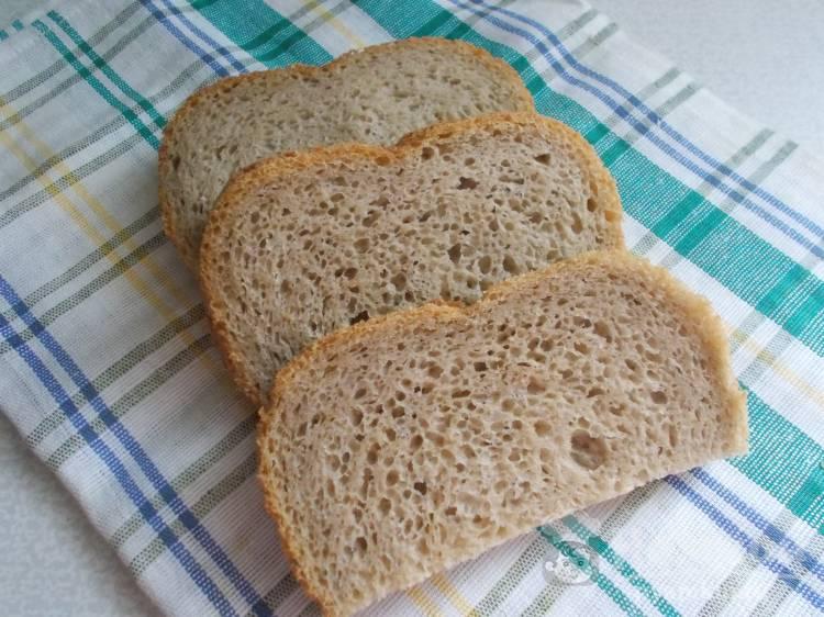 Горчичный хлеб на закваске в хлебопечке