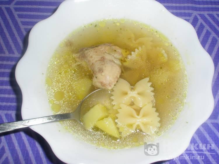 Куриный суп с фарфалле