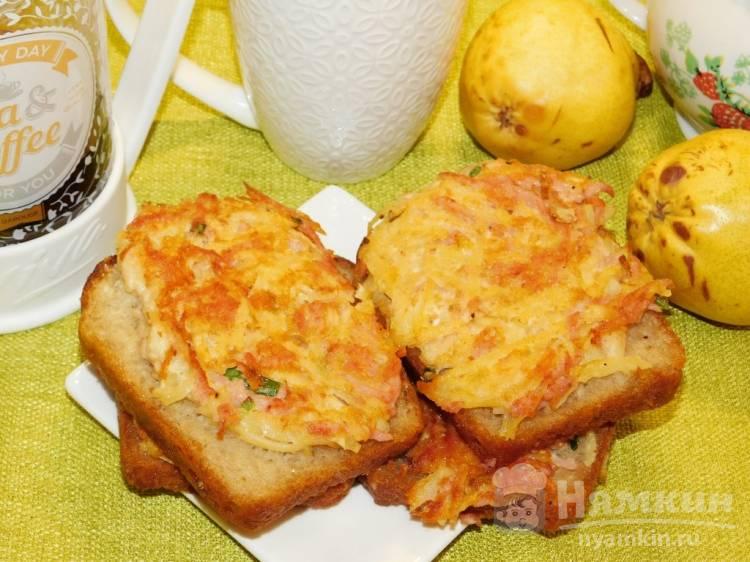 Горячие бутерброды с картофелем на сковороде