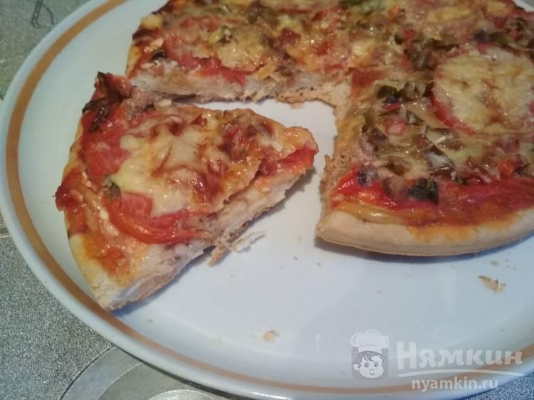 Пицца с рыбными консервами