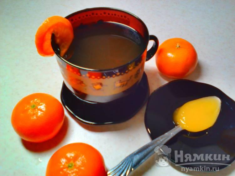 Чёрный чай с мандарином и мёдом