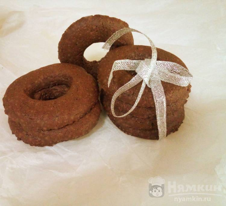 Печенье шоколадные колечки
