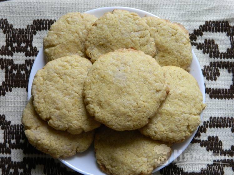 Лимонное печенье с полентой