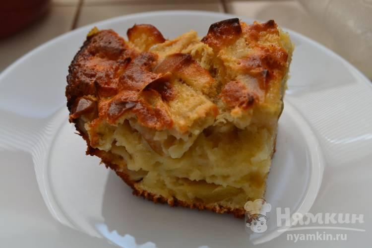 Домашняя шарлотка с яблоками в духовке