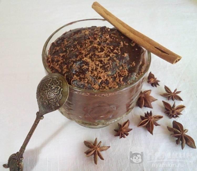 Шоколадный пудинг без яиц