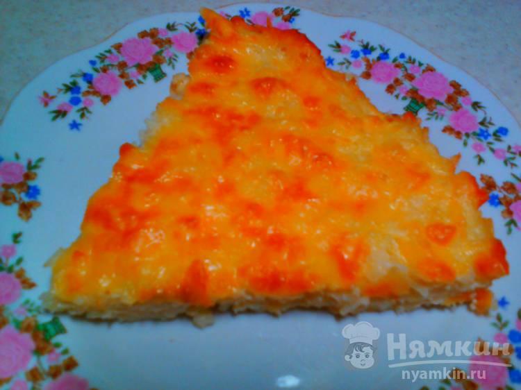 Запеканка из лапши с яйцом и сыром