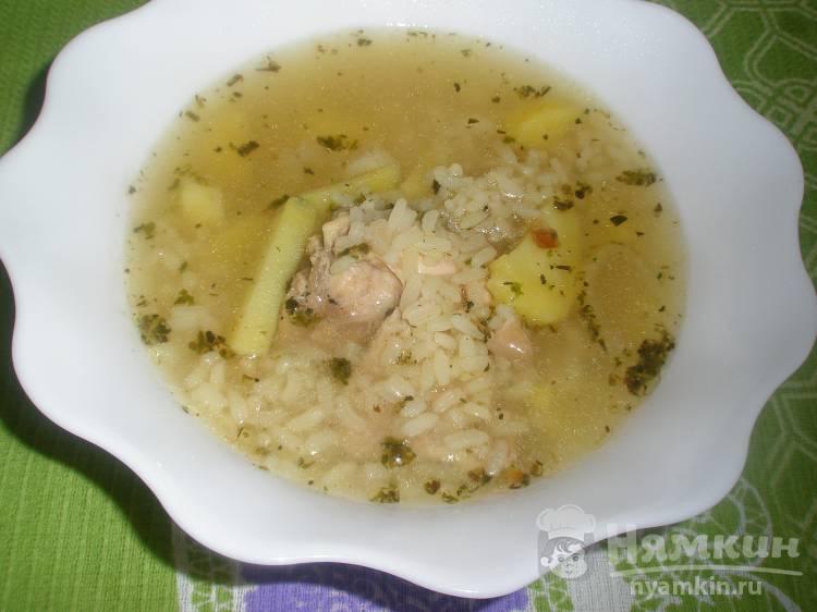 Рисовый суп с итальянскими травами