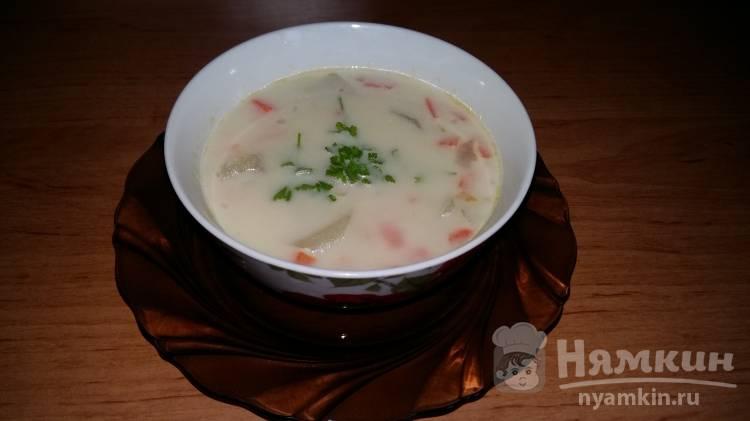 Овощной суп со сметаной для детей