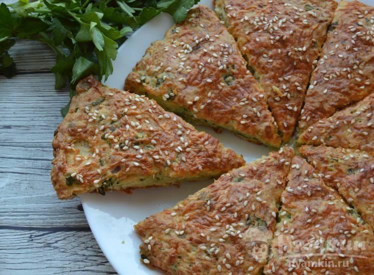Вкусная лепешка с сыром и зеленью
