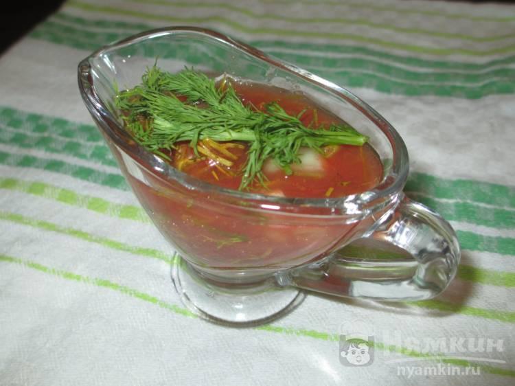 Томатный соус с укропом и репчатым луком