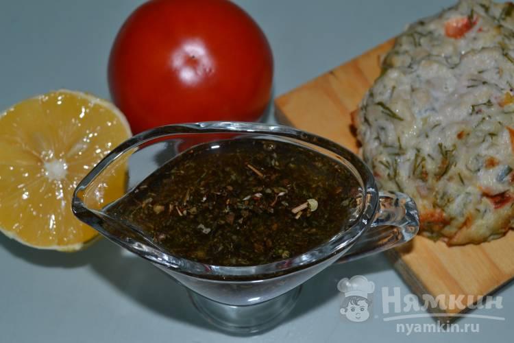 Заправка для салата с лимоном и соевым соусом