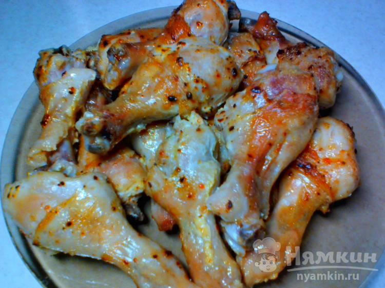 Голени куриные со специями в духовке