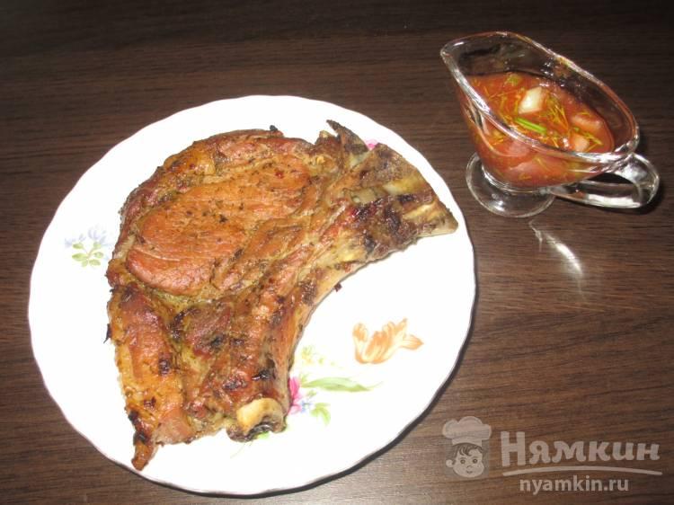 Вкусный свиной антрекот