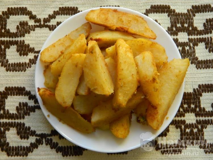 Картошка печеная с горчицей и чесноком