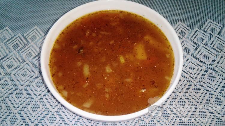 Гречневый суп с килькой