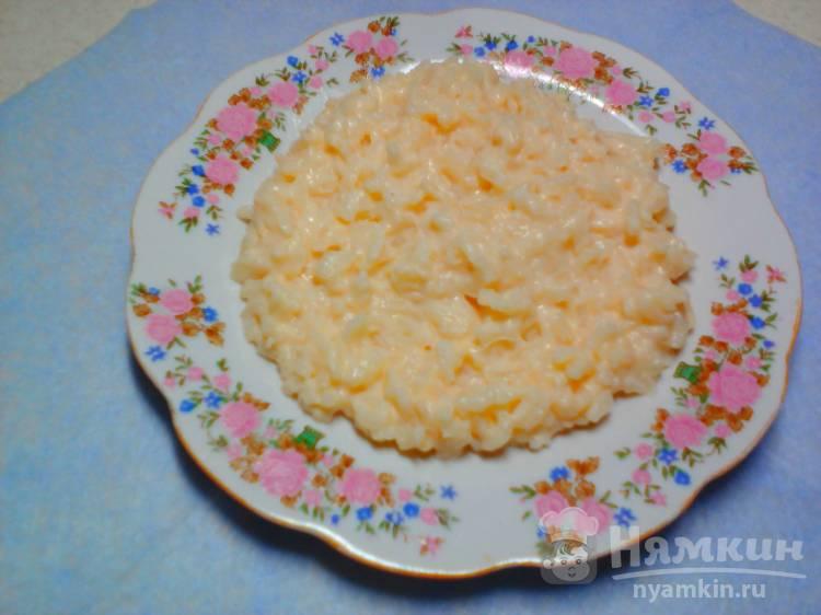 Каша молочная из длиннозерного риса в мультиварке
