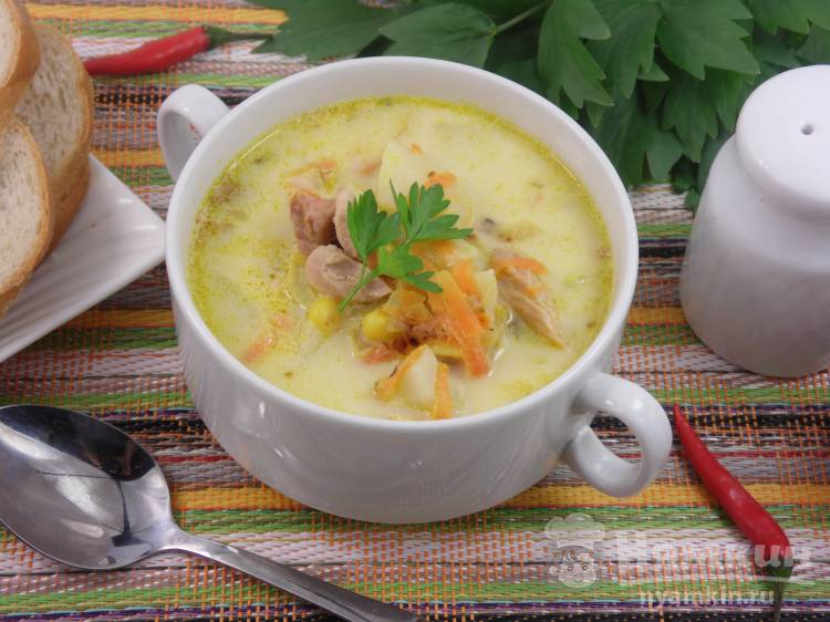 суп с копченой курицей картинки несут