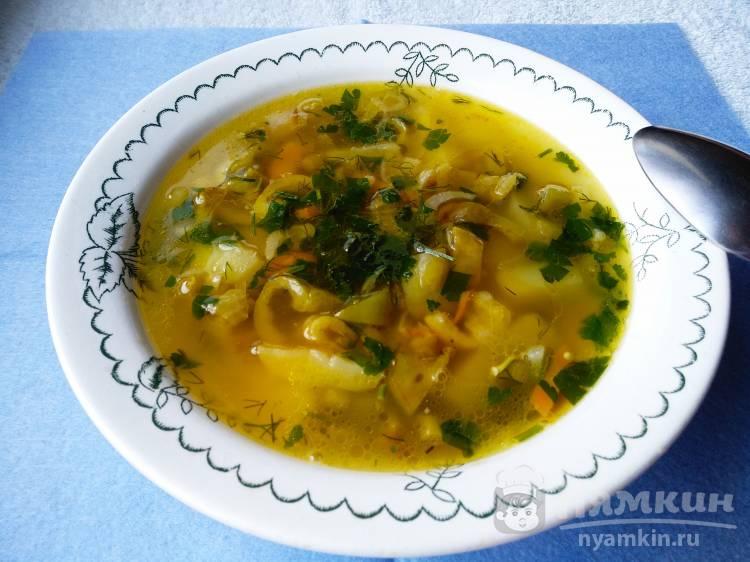 Суп с овощами и чесночными стрелками