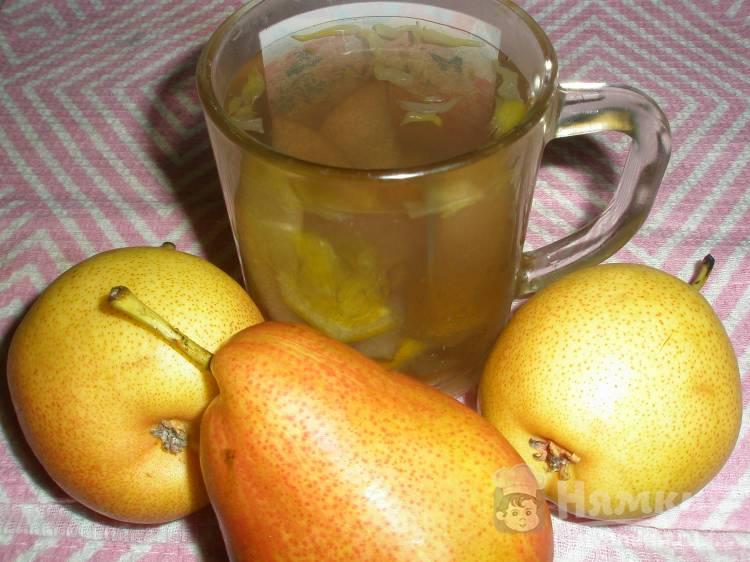 Компот из груш и апельсина