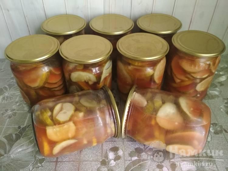 Салат огурцы резанные с кетчупом на зиму