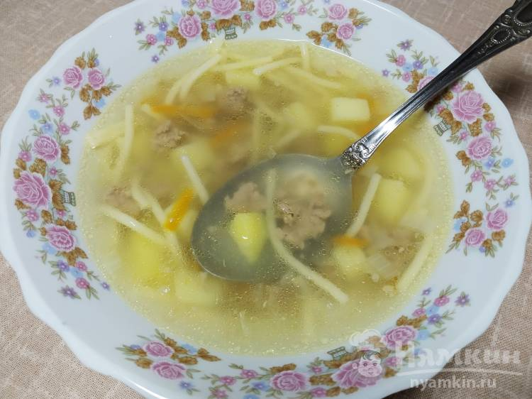 Суп-лапша с фаршем