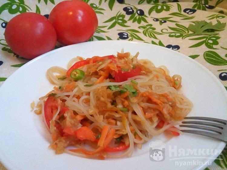 Сочная фунчоза с овощами