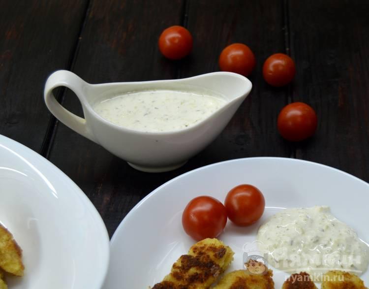 Соус тартар с солеными огурцами и сметаной