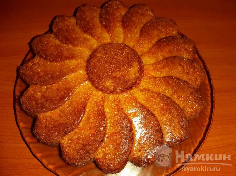 Простой морковный пирог на маргарине