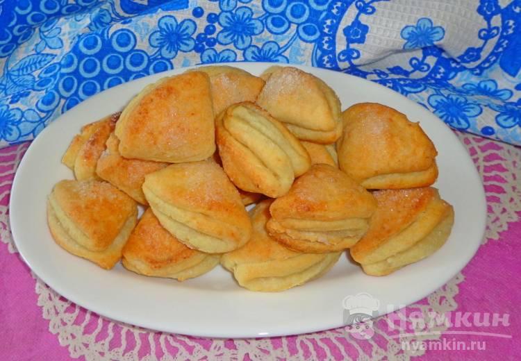 Творожное печенье конвертики с сахаром