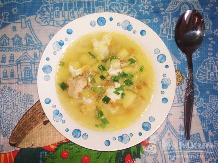 Суп с овощами, свининой и яйцами