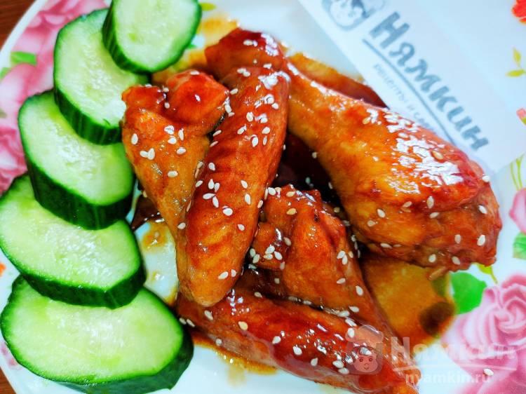 Курица в соево-медовом соусе на сковороде