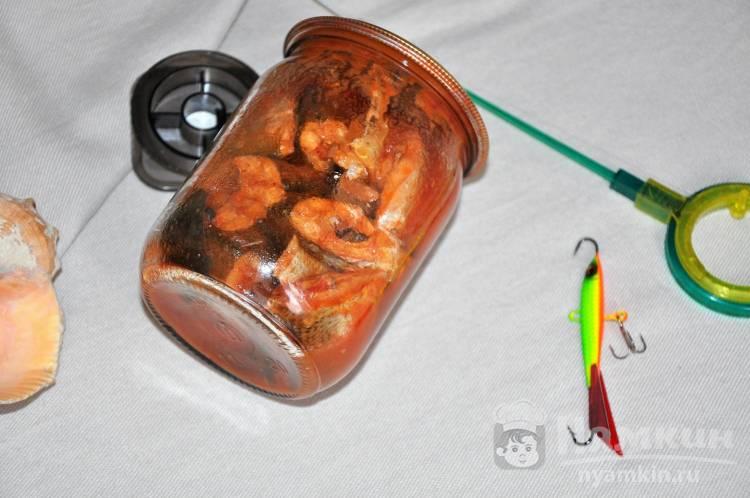 Домашняя консерва из речной рыбы в томатном соусе