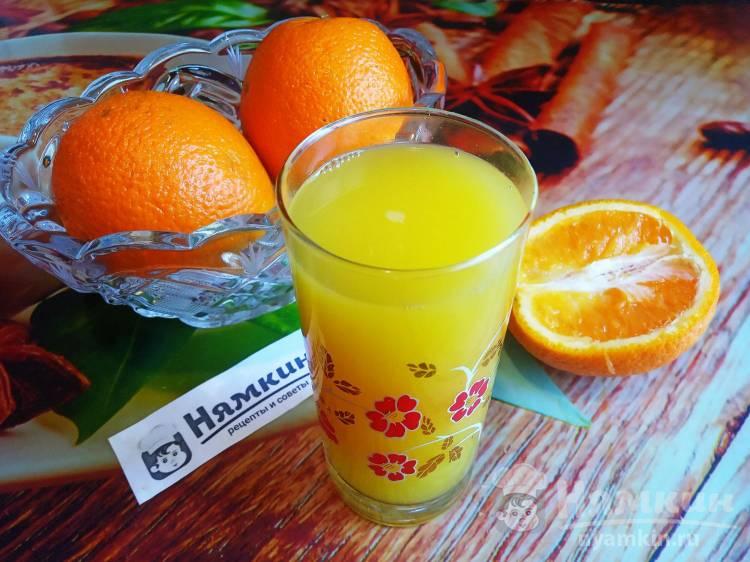 Освежающий напиток из сыворотки и апельсина