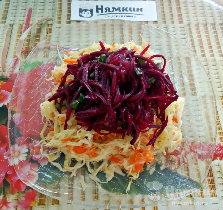 Салат из капусты со свежей свеклой