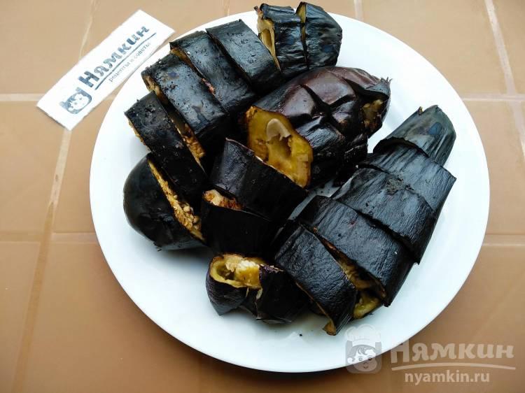 Баклажаны с чесноком запеченные на мангале