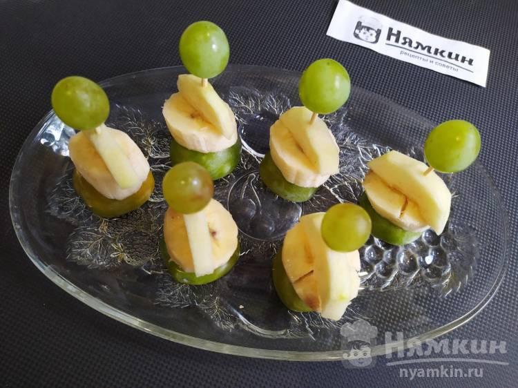 Канапе из фруктов на детский праздник