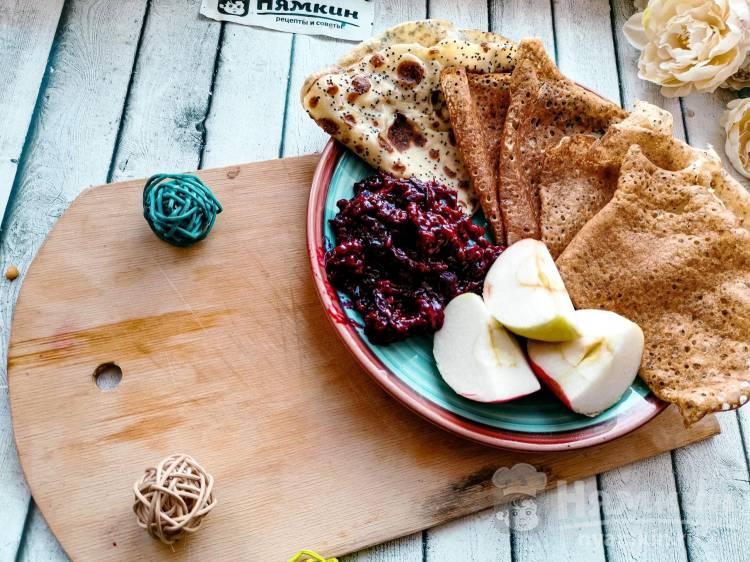 Тонкие блинчики с маком к завтраку