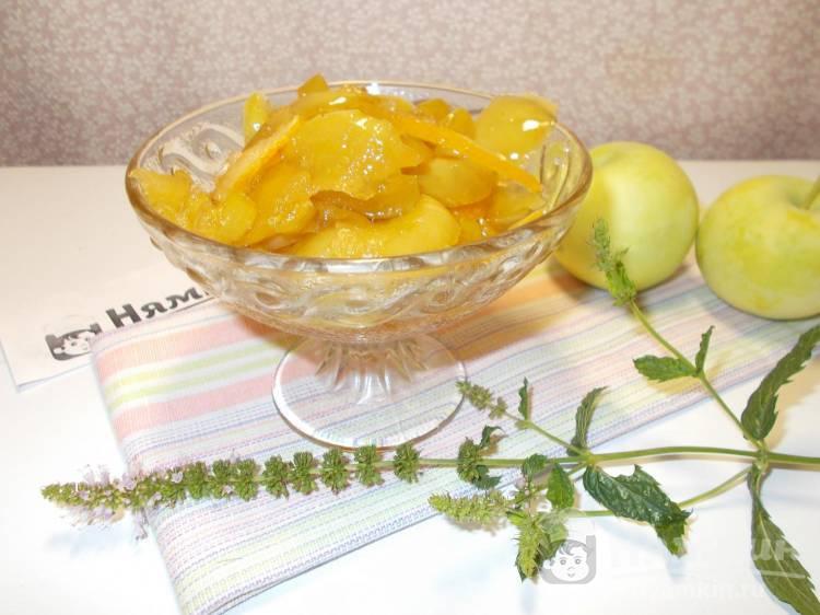 Яблочное варенье Мохито с лимоном и мятой