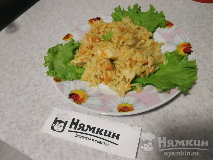 Быстрый диетический плов с куриным филе на сковороде