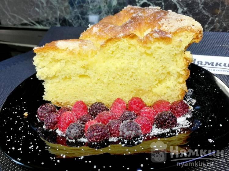 Сахарный пирог со сливками по-французски: пышный и ароматный
