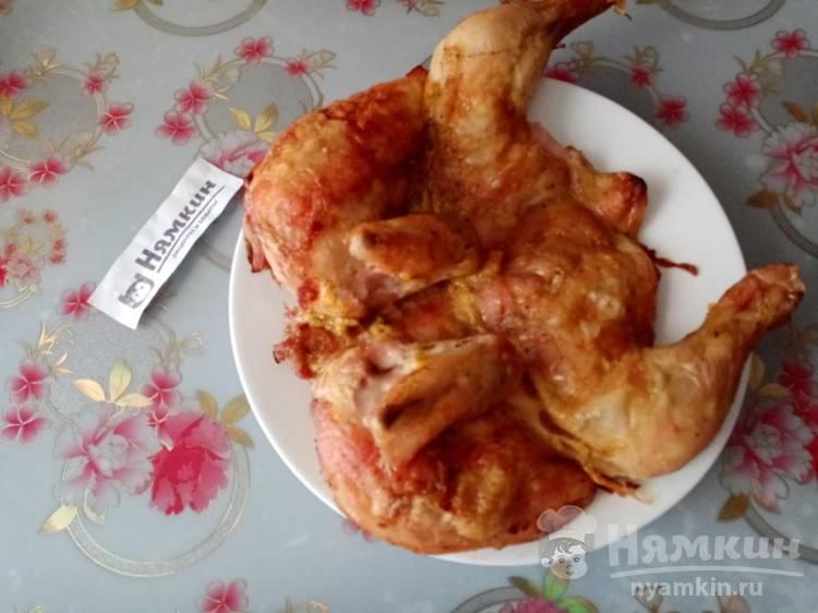 Курица целиком запечённая в духовке