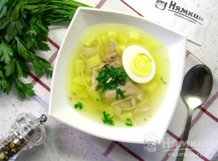 Суп из куриных бедрышек с вермишелью и картофелем