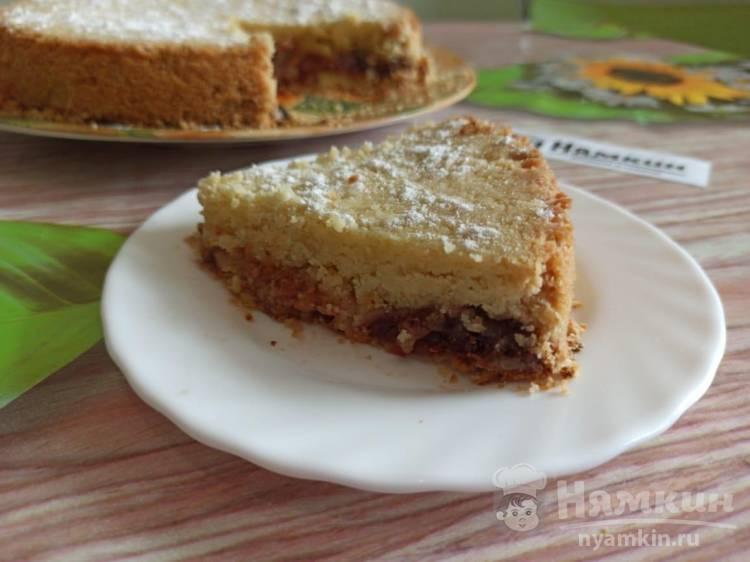 Насыпной пирог с вареньем в духовке: нежный и тает во рту