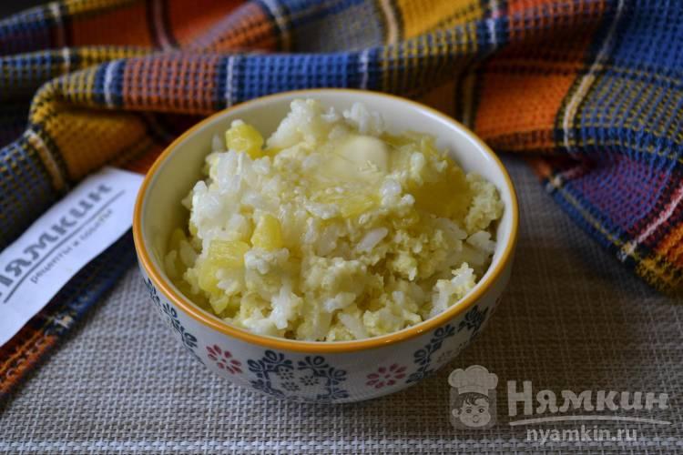 Тыквенная каша с рисом и пшеном в мультиварке